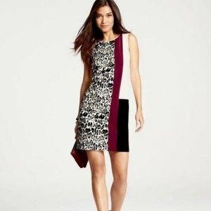 Ann Taylor color block sheath dress